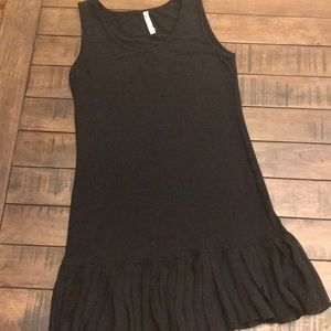 Cute black knit tank dress with flare!